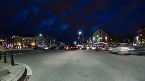 Brussels City Driving Time Lapse stock video footage