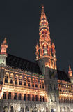 Brussels City Hall (Hotel de Ville) in Grand Place Royalty Free Stock Images