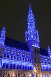 Brussels City Hall (Hotel de Ville) in Grand Place Stock Photography