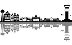 Brussels city skyline Stock Photography