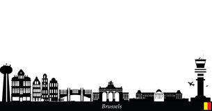 Brussels city skyline Royalty Free Stock Images