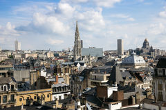 Brussels city view Belgium. Skyline of the city of Brussels, Belgium stock photos