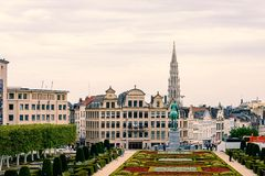 Brussels city view. Urban nature in Brussels, Belgium Royalty Free Stock Image