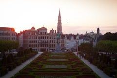 brussels cityscape Royaltyfri Bild