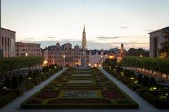 brussels cityscape Fotografering för Bildbyråer