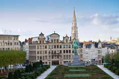 Brussels cityscape Stock Photos