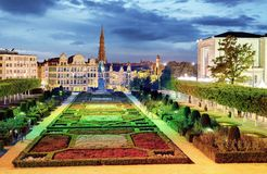 Brussels cityscape at night,  Belgium panorama skyline Stock Photography