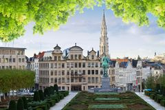 Brussels cityscape Royalty Free Stock Image