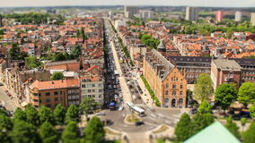 Brussels Cityscape Time Lapse Tilt Shift stock footage