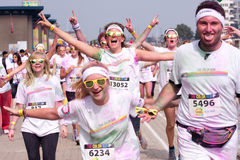 Brussels Color Run 2014 - Brussels Royalty Free Stock Image