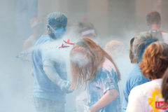 Brussels Color Run 2014 - Brussels Stock Photography