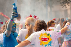 Brussels Color Run 2014 - Brussels Royalty Free Stock Photography