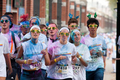Brussels Color Run 2014 - Brussels Royalty Free Stock Images