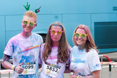 Brussels Color Run 2014 - Brussels Stock Photos