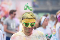 Brussels Color Run 2014 - Brussels Stock Image
