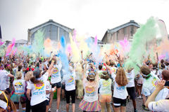 Brussels Color Run 2014 - Brussels Stock Photo