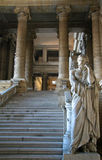 BRUSSELS COURT ROOM. A statue in the Palais de Justice in Brussels, Belgium royalty free stock photography
