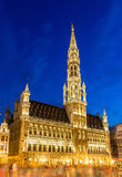 Brussels ctiy hall in the evening Royalty Free Stock Image
