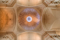 Brussels -  The cupola of church Eglise de St Jean et St Etienne aux Minimes. Stock Photos