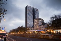 BRUSSELS - December 1, 2017: The Hotel Brussels is a 4 star hotel formerly known as Hilton Hotel . Stock Photography