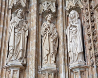 Brussels - Detail From Main Portal Of Notre Dame Du Sablon Gothic Church Stock Image