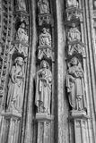 Brussels - Detail from main portal of Notre Dame du Sablon Royalty Free Stock Photo