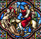 Brussels - Entry of Jesus in Jerusalem - cathedral Royalty Free Stock Image