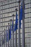 Brussels - European commission and EU flags Royalty Free Stock Photo