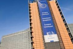 brussels european flags στοκ εικόνα