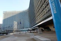 brussels european flags στοκ εικόνες