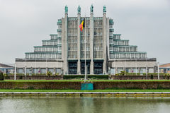 Brussels Exhibition Centre. Taken on May 2, 2013. Complex has 12 exhibition halls including 5 which date back to the 1935 World Expo, with a surface area of 3 Stock Photography