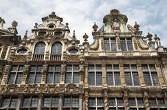 Brussels - The facade of palaces - Grote Markt. Royalty Free Stock Image