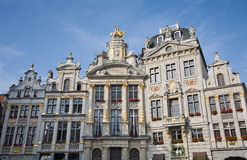Brussels - The facade of palaces from main square Royalty Free Stock Images