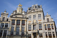 Brussels - The facade of palaces from main square Royalty Free Stock Image