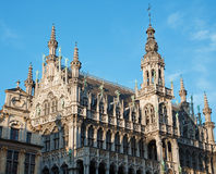 Brussels - The facade and towers of Grand palace Royalty Free Stock Photography