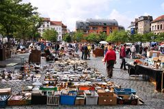 Brussels flea market Royalty Free Stock Image