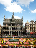 Brussels flower carpet Royalty Free Stock Images