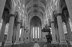 Brussels - gothic church Notre Dame du Sablon Stock Photo