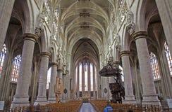 Brussels - gothic church Notre Dame du Sablon Stock Photos