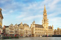 Brussels - Grand place, Belgium, nobody.  stock image