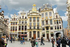 Brussels grand place building, Royalty Free Stock Photography