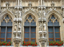 Brussels Grand Place holy statues Stock Image