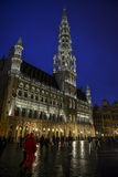 Brussels grand place by night Royalty Free Stock Photos