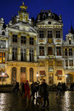 Brussels grand place by night Stock Image