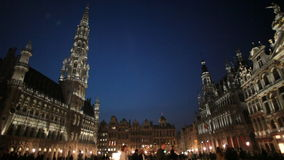 Brussels, Grand Place stock footage