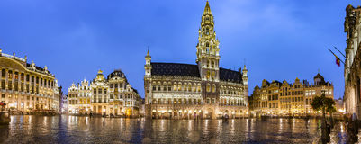 Brussels grand place panorama Royalty Free Stock Images