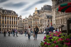 brussels grote markt Stock Photo