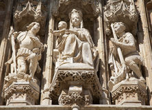 Brussels - Holy Mary - Notre Dame du Sablon royalty free stock photos