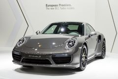 Porsche 911 Turbo S sports car Royalty Free Stock Image
