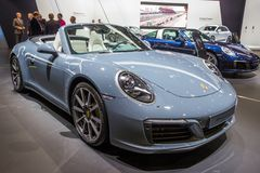 Porsche 911 Carrera 4 Cabriolet sports car Stock Images